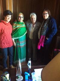 con la senadora y primera dama del Uruguay