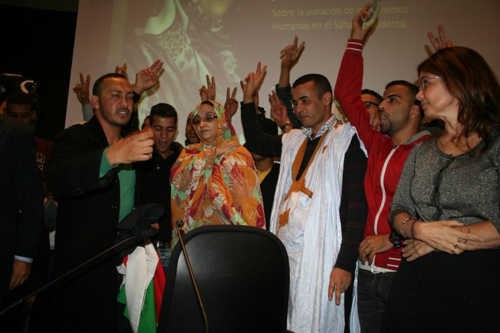 eucoco +manifest +Aminetu Haidar LPGC 14-15-16-20-11-2014 madrid 1087
