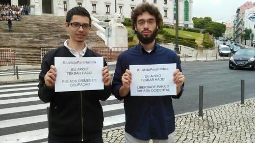 Federico Aleixo e Ysmael del Colectivo Socialismo Revolucionario de Portugal