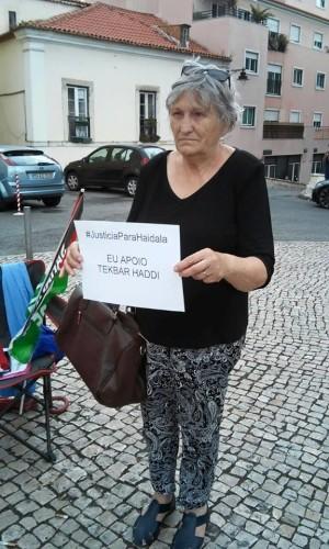 Julia Almeida, gran activista y miitante, siempore con el Pueblo Saharaui