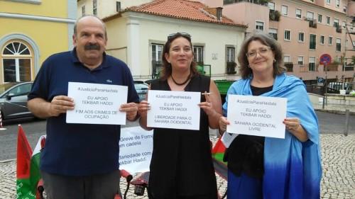 Con Henrique Borges, profesor de filosofía y destacado dirigente del Sindicato de Profesores y miembro del Consejo Nacional de la CGT Portugal