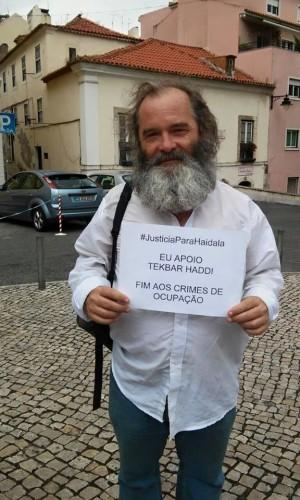 Francisco Raposo, representante de los trabajadores para la seguridad y salud del ayuntamiento de Lisboa y miembr del Colectivo Socialismo Revolucionario