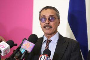 Jatri Aduh, presidente Consejo Nacional de Saharaui, participa en la ceremonia de investidura del presidente de Nicaragua