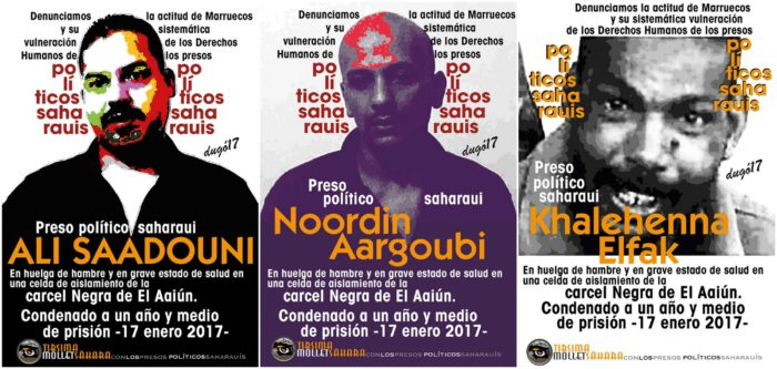 Ali Saadouni, Noordin Aargoubi e Khallihenna ElFak, trasladados a cárceles en Marruecos, fuera del territorio del Sahara Occidental.