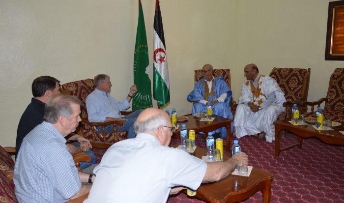 Brahim Gali recibe delegacion Estados Unidos