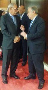 Brahim Ghali - Guterres