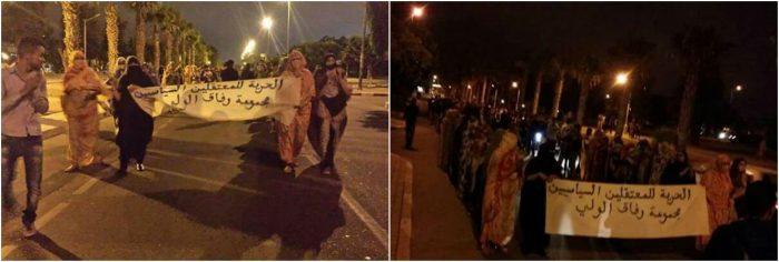 marchas en Agadir en apoyo a los estudiantes saharauis